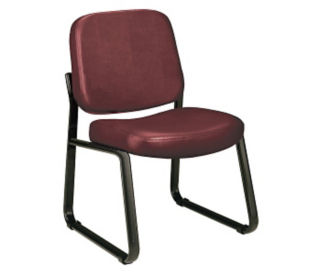 Vinyl Armless Guest Chair, C80099