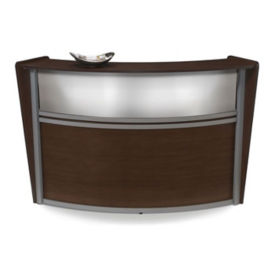 Marque Curved Single Reception Station, D35154