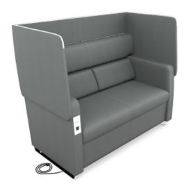 Faux Leather Privacy Panel Sofa, C80462