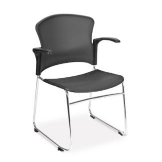 Plastic Shell Guest Chair with Arms, C67838