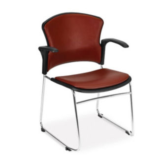 Antimicrobial Vinyl Guest Chair with Arms, C67840