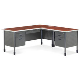 Metal L-Desk with Right Return, D35082