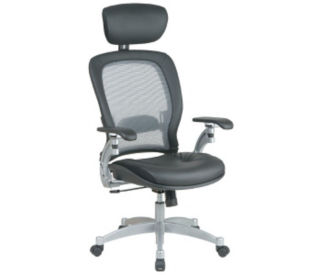Mesh AirGrid Back Chair with Headrest, C80076