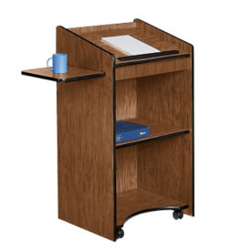 Mobile Floor Lectern with Shelf, M13120
