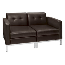 Faux Leather Loveseat, W60434
