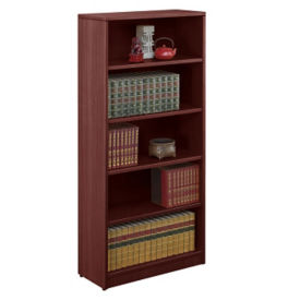 "Contemporary Five Shelf Bookcase - 71""H, B30552"