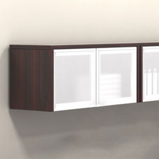 "Contemporary Collection Wall-Mounted Cabinet with Silver Doors - 36""W, B30560"