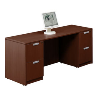 "Contemporary Double Pedestal Credenza - 71"" x 24"", D30249"