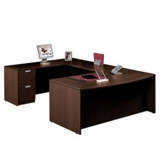Contemporary Bow Front U-Desk, D30250