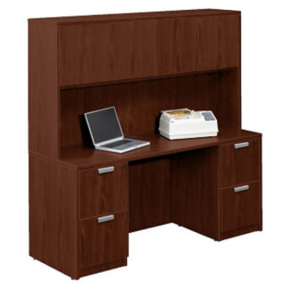 "Contemporary Credenza with Overhead Hutch - 66"" , D30252"