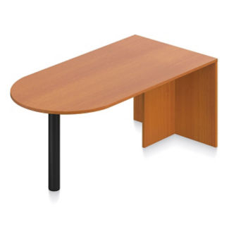 "Contemporary Peninsula Desk - 71""W, D30258"