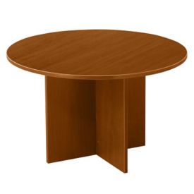 "Contemporary Round Table with Cross Base - 48""DIA, T11804"