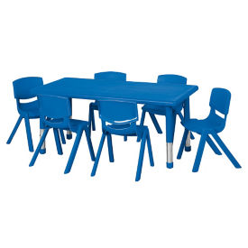 "Rectangle Table with Six 12""H Chairs, P40302"