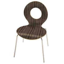 Laminate Round Back Stack Chair with Cutout, C60230
