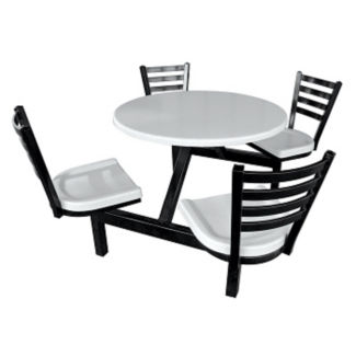 Round Outdoor Table with Four Chairs, F10022