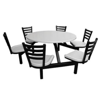 Round Outdoor Table with Six Chairs, F10023