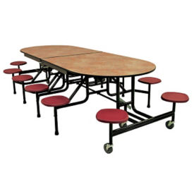 "Custom Logo 12 Seat Mobile Cafeteria Table - 29""H, K10053"