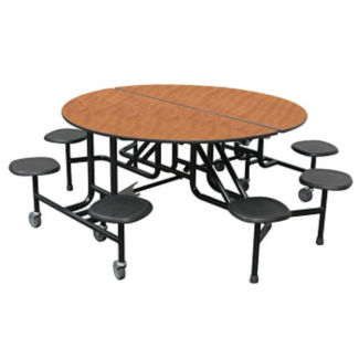 "Custom Logo Mobile 8 Stool Round Table - 27""H, K10057"