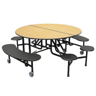 "Custom Logo Mobile Table with Mixed Seating - 29""H, K10058"