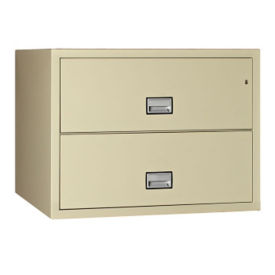 "Two Drawer Fire Resistant Lateral File - 23.5"" D, L40774"