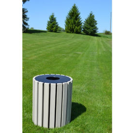 Round Trash Receptacle 33 Gallon Capacity, R20330