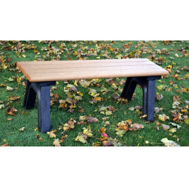 Recycled Plastic Outdoor Flat Bench without Arms - 4 Ft, F10572