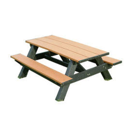 "Standard Recycled Plastic Picnic Table - 72""W, F10188"