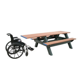 Standard Recycled Plastic Picnic Table with One Handicap End, F10190