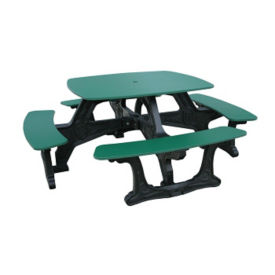 Bistro Style Recycled Plastic Picnic Table, F10192
