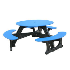 Bodega Style Recycled Plastic Picnic Table, F10193