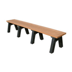 "Traditional Recycled Plastic Backless Outdoor Bench - 96""W, F10202"