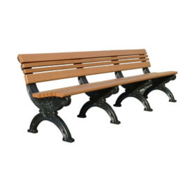 "Cambridge Recycled Plastic Bench with Back - 96""W, F10208"