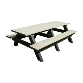 "Recycled Plastic Picnic Table - 96""W, F10214"