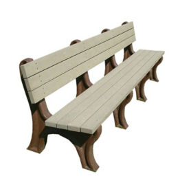 "Recycled Plastic Outdoor Bench - 96""W, F10218"