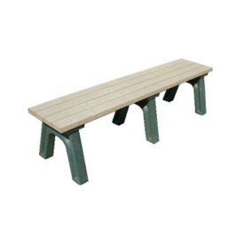 "Recycled Plastic Outdoor Backless Bench - 72""W, F10219"