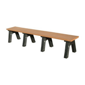 "Recycled Plastic Backless Outdoor Bench - 96""W, F10220"