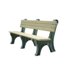 "Recycled Plastic Outdoor Bench - 72""W, F10221"