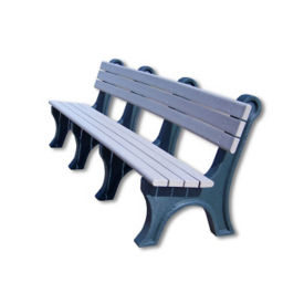 "Recycled Plastic Outdoor Bench - 96""W, F10222"
