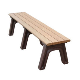 "Recycled Plastic Backless Outdoor Bench - 72""W, F10223"