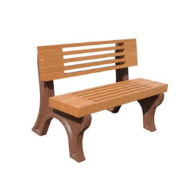 "Elite Recycled Plastic Outdoor Bench - 48""W, F10225"