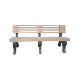 "Elite Recycled Plastic Outdoor Bench - 72""W, F10227"