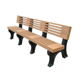 "Elite Recycled Plastic Outdoor Bench - 96""W, F10228"
