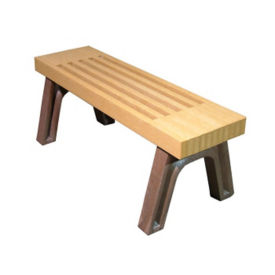 "Elite Recycled Plastic Backless Outdoor Bench - 48""W, F10229"
