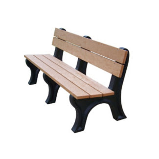 "Traditional Recycled Plastic Outdoor Bench - 72""W, F10238"