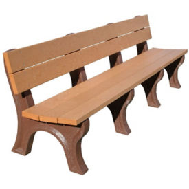"Traditional Recycled Plastic Outdoor Bench 96""W, F10239"