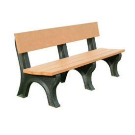 "Landmark Recycled Plastic Outdoor Bench - 72"", F10248"