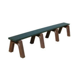 "Landmark Recycled Plastic Backless Outdoor Bench - 96""W, F10251"