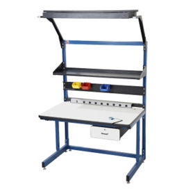 """ESD Laminate Cantilever Workbench 60""""Wx30""""D, T11610"""