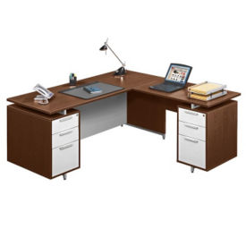 Floating Service Flush Top L-Desk, D35590