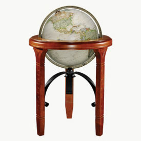 "Raised Relief Jameson Globe - 16"" Diameter, V21455"